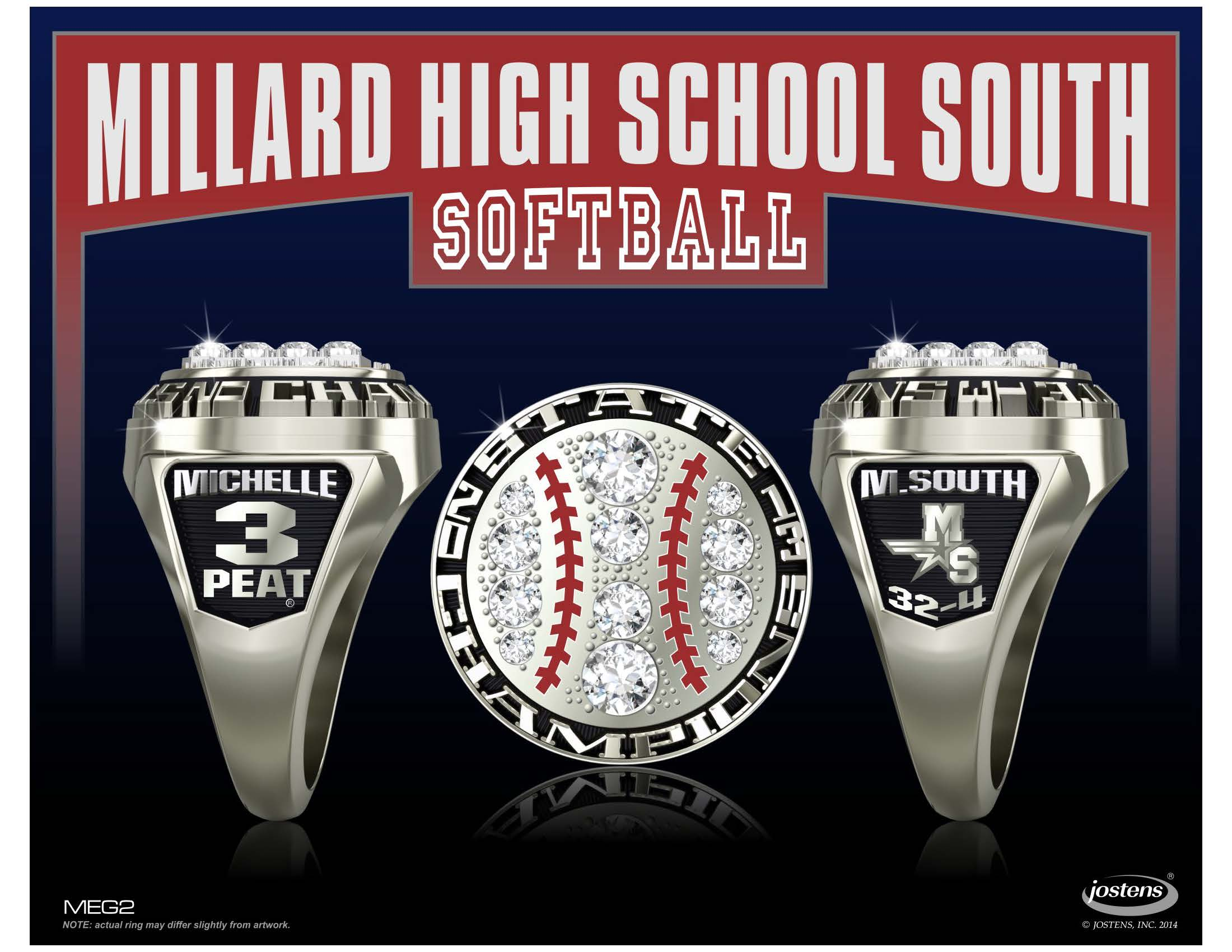 softball pitcher photo her recieves off jensen byrne by junior julia reed championship rings john tribune state shows